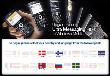 Samsung i600: ¿No hay actualización a WM6 para España?