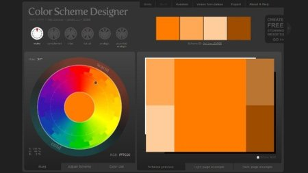 Encuentra la mejor combinación de colores con Color Scheme Designer