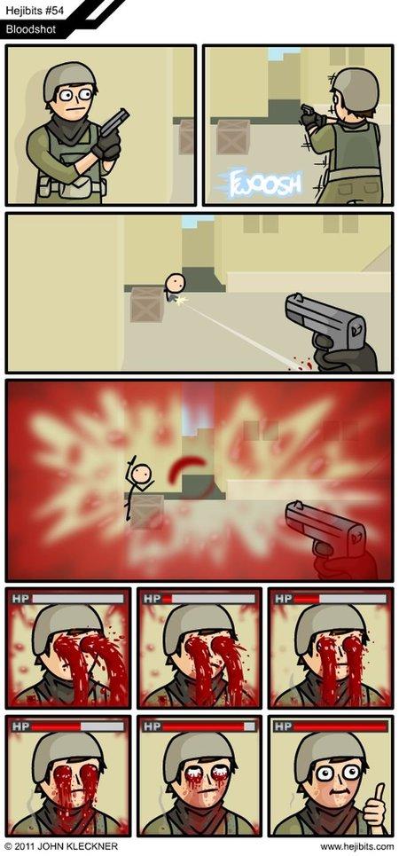 La sangre pasajera en los FPS