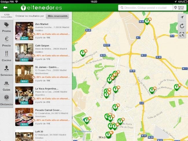 eltenedor ipad aplicación