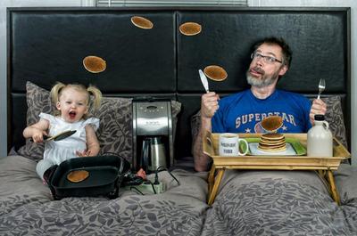 """""""World's best father"""", una divertida serie fotográfica para padres e hijos que triunfa en los medios"""