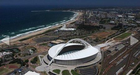 El estadio Moses Mabhida de Sudáfrica (Durban Stadium)