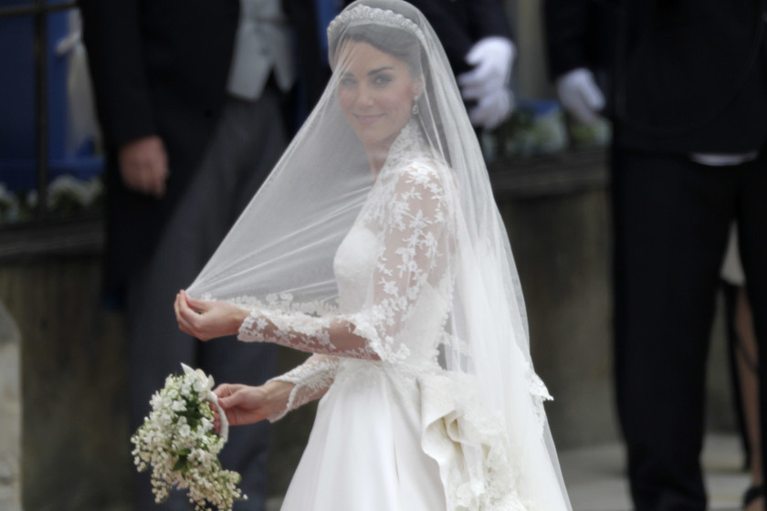 kate middleton tuvo un segundo vestido de novia y a todos se nos