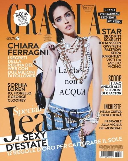 Y por fin lo logró: Chiara Ferragni portada de la revista Grazia
