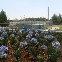 Hydropure una planta de tratamiento de agua que parece un jardín