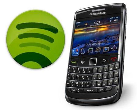 Spotify llega a BlackBerry