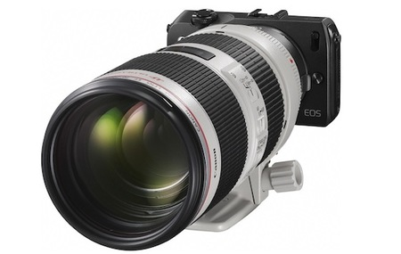 Canon EOS M con teleobjetivo