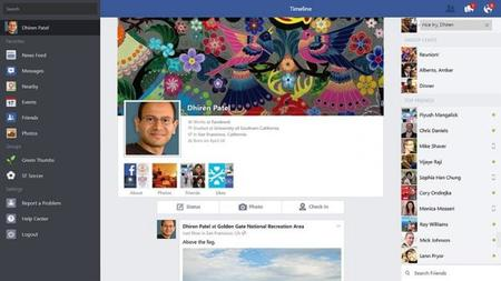 Timeline Facebook para Windows 8.1