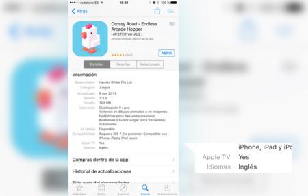 La App Store ahora indica si una aplicación también está disponible para Apple TV