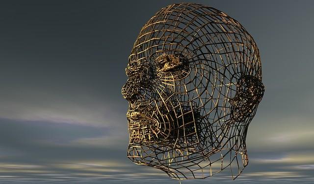 Cabeza humana en 3D.