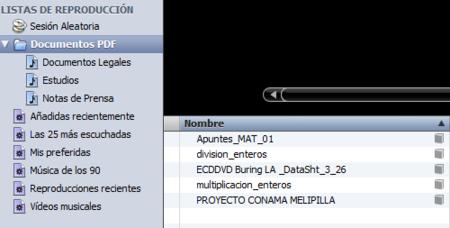 PDFs iTunes