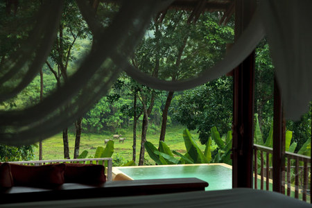 Piscina privada de la villa