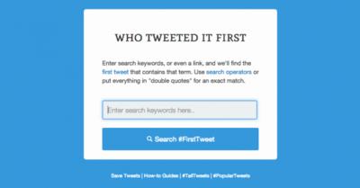 Se acabaron las peleas sobre la fuente: Who Tweeted It First te revela el primer autor de un tuit