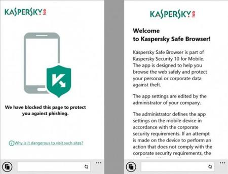 Kaspersky Safe Browser, un navegador web seguro para Windows Phone 8