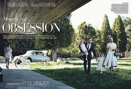 El editorial de Vogue Estados Unidos que nos lleva a los años 60, con Natalia Vodianova