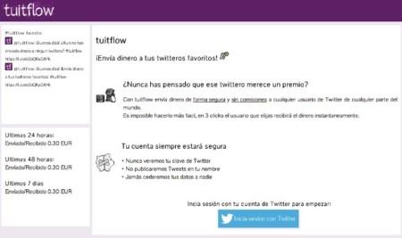 Tuitflow, envía micropagos a cualquier persona usando su cuenta de Twitter