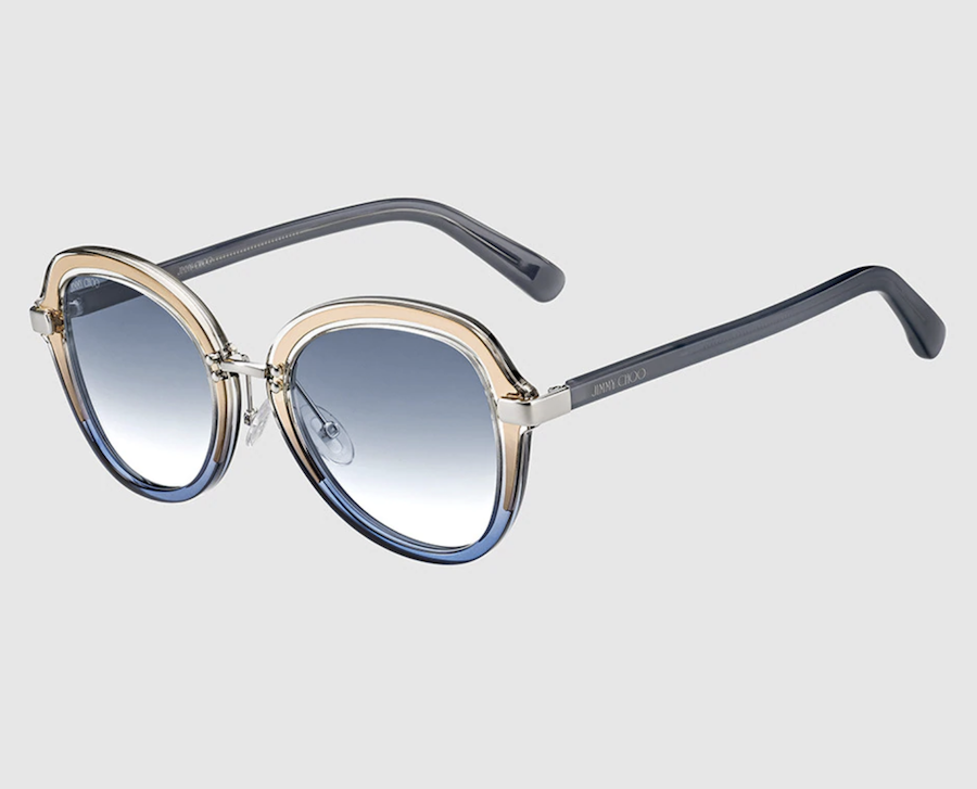 Gafas de sol de mujer Dree redondas de pasta azules