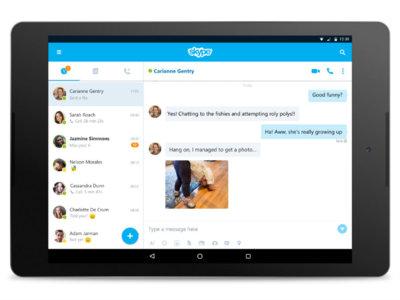 Skype 7.0 disponible para Android, rediseño de interfaz y mejoras en multitarea