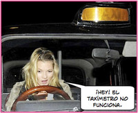 Kate Moss se compra un taxi