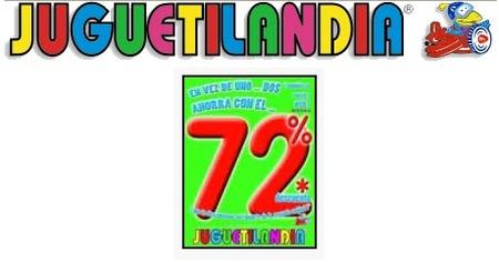 Juguetilandia: sigue el 72% de descuento en la 2ª unidad, portes gratis y regalo seguro