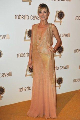 Heidi Klum Roberto Cavalli fiesta París