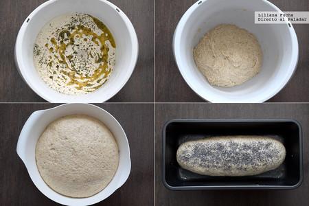 Pan integral de espelta a las finas hierbas. Receta para el Día Mundial del Pan. Pasos