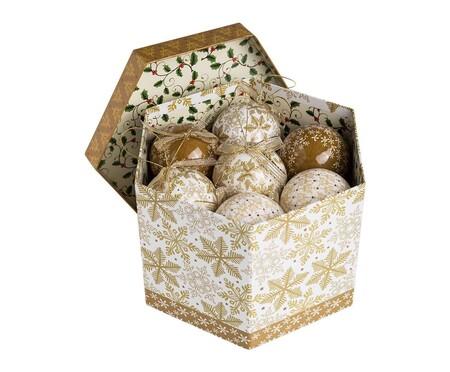 Set de bolas de navidad doradas