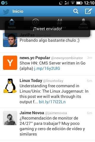 Firefox OS Twitter