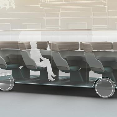 Así imagina un estudio de diseño cómo podrían ser unos taxis compartidos en los que, al mismo tiempo, los pasajeros viajen solos