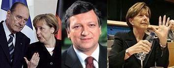 Barroso recibe instrucciones de Francia y Alemania