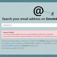 """Esta web te permite comprobar si tu correo o dominio ha sido utilizado en ataques de Emotet, """"el malware más peligroso del mundo"""""""