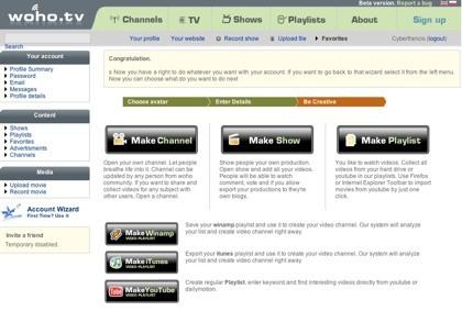 Woho.tv, nuestro canal de tv online, programas y playlists de videos en un único lugar