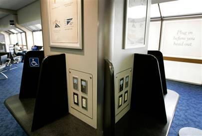 Cargadores de gadgets en los aeropuertos