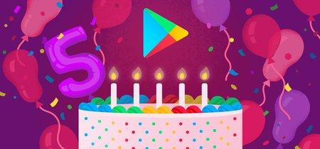 Google Play cumple cinco años: este es el Top 5 de aplicaciones, juegos, canciones, películas y libros