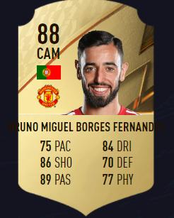 Fernandes mejores centrocampistas fifa 22