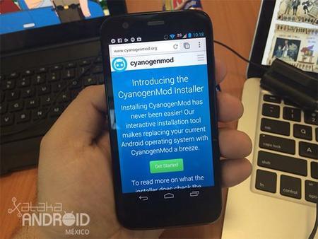 Tenemos CyanogenMod 11 en el Moto G pero no oficial
