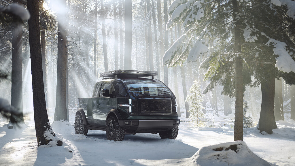 No es un juguete, es el próximo lanzamiento de Canoo: su pickup completamente eléctrico promete una potencia de hasta 600 caballos