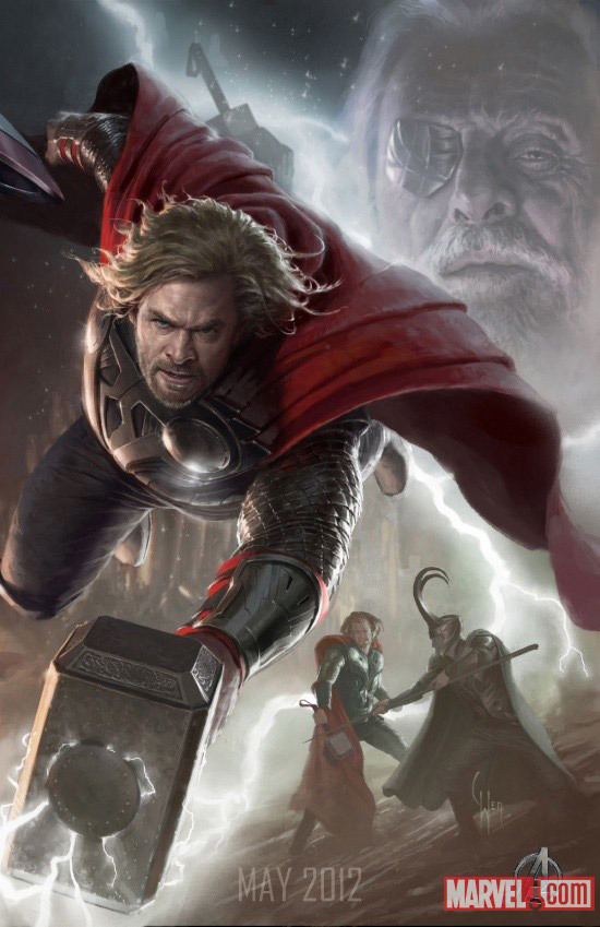 Foto de 'Los Vengadores' ('The Avengers'), teaser póster y dibujos oficiales de los protagonistas (6/9)