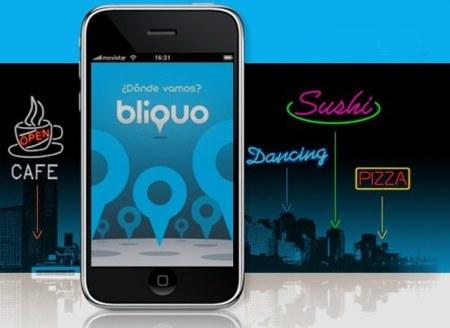 bliquo, aplicación de localización de lugares de ocio para iPhone