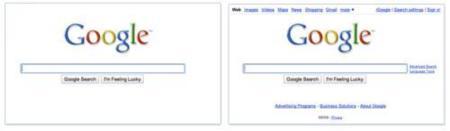 La página de inicio de Google todavía más simple