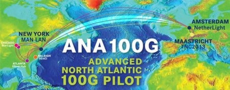 Prueban el primer enlace transatlántico a 100 Gbps
