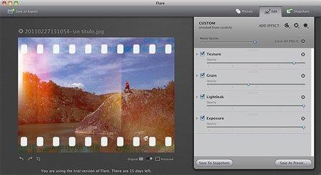 Flare: retoque instantáneo para Mac
