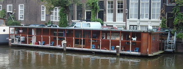 El santuario flotante de gatos que hay en Ámsterdam
