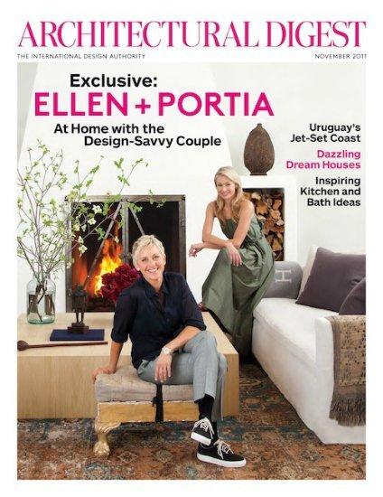 El salón de Ellen DeGeneres y Portia de Rossi