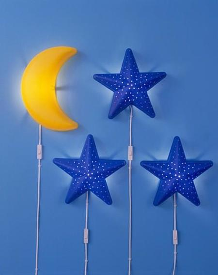 7 ideas para mantener iluminada durante la noche la for Lamparas pared infantiles