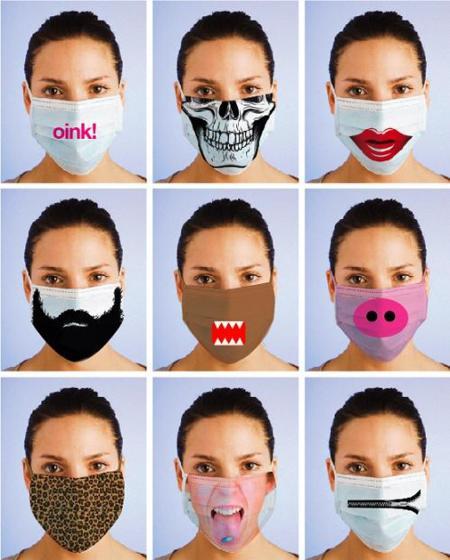 Ante la epidemia... mascarillas de divertidos diseños