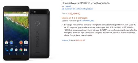 Nexus 6P de 64 GB de venta en Amazon México