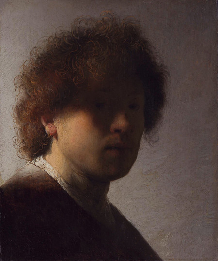 Self Portrait 1628 1629 By Rembrandt