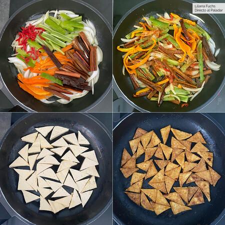 Tofu Mostaza Verduras Pasos