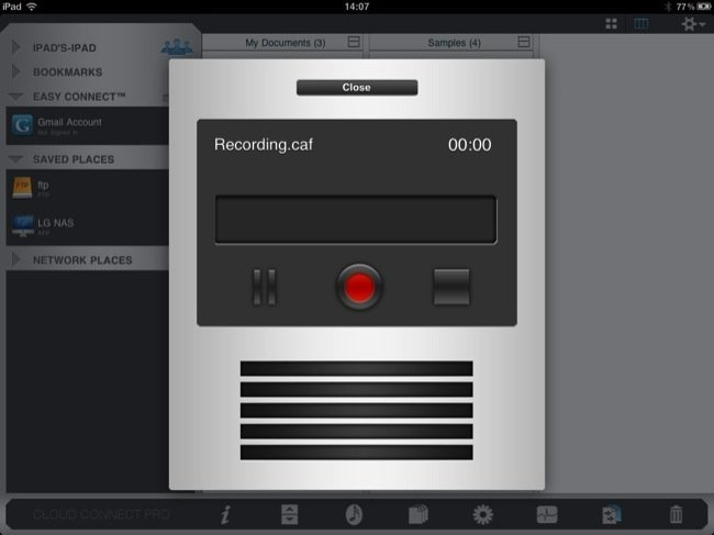 Grabando audio desde Cloud Connect Pro